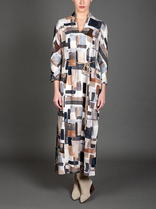Collage Print Maxi Dress