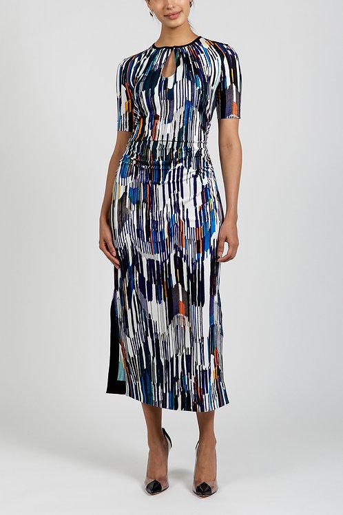 MODERNIST PRINT JERSEY DRESS