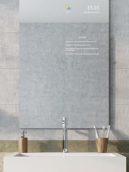 Frameless Bathroom Smart Mirror - Extra Large