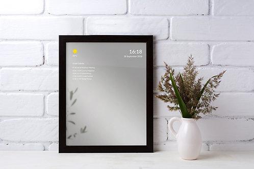 Black Framed Smart Mirror - Medium