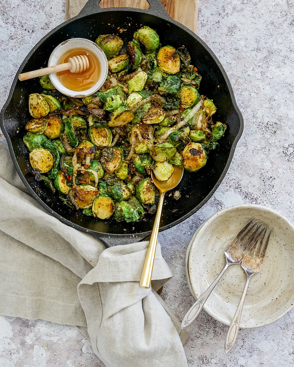 Za'atar & Honey Brussels Sprouts
