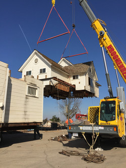 Craning off of second story