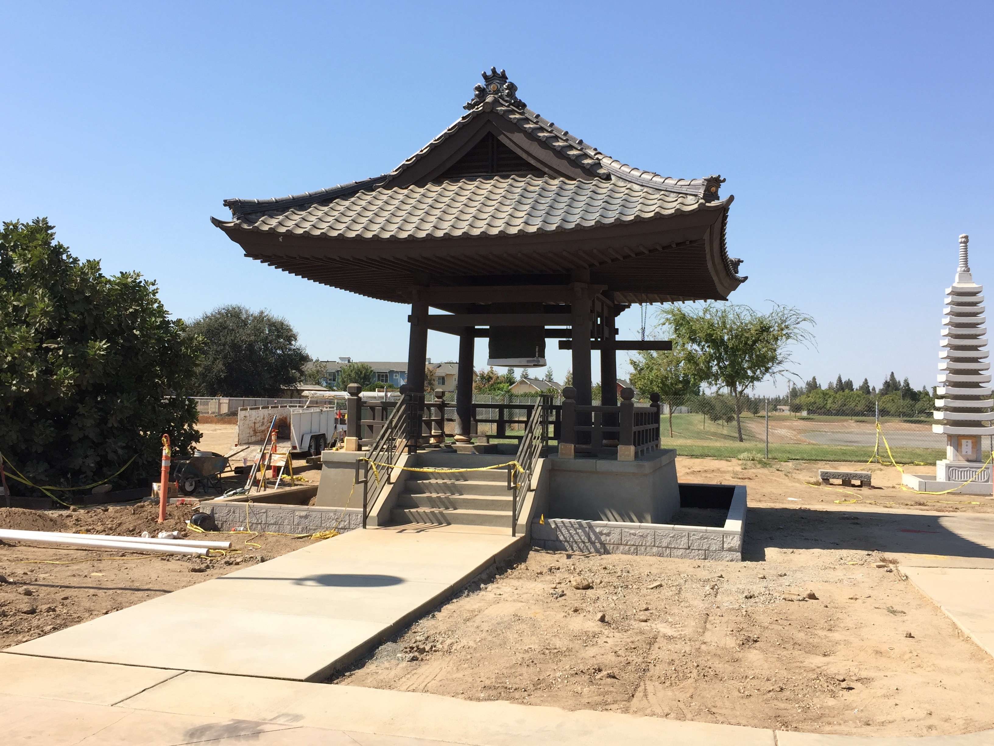 Buddhist Temple Bell Tower