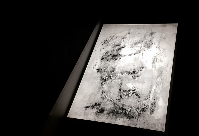 Light box of one of the insert paintings