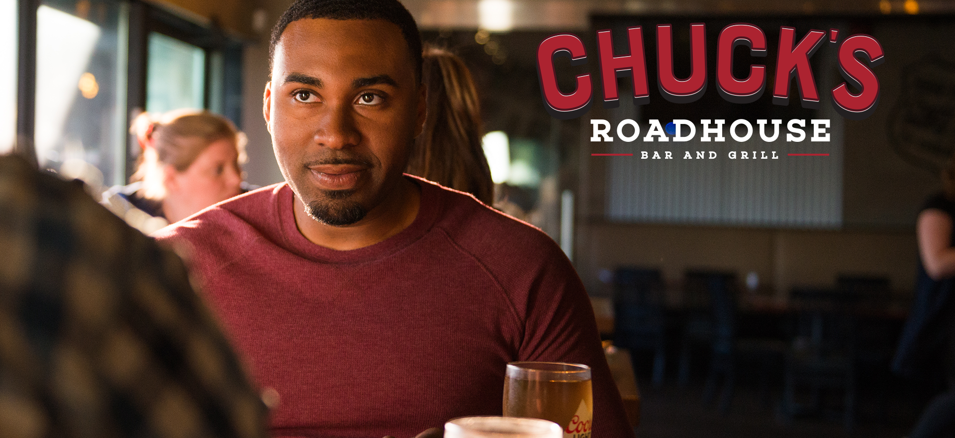 """Chuck's Roadhouse Bar & Grill / """"Life's Open Roads"""""""