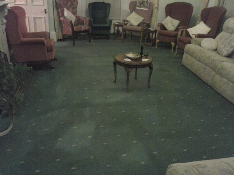 Nursing home carpets cleaned