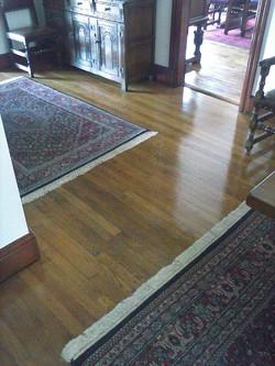 wooden floor sanded & re varnished