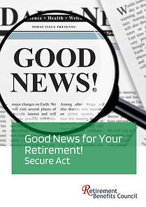 Good News - Secure Act
