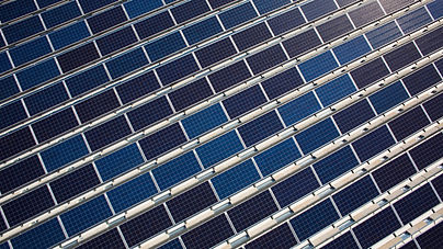 Solar panels at Avon Solar