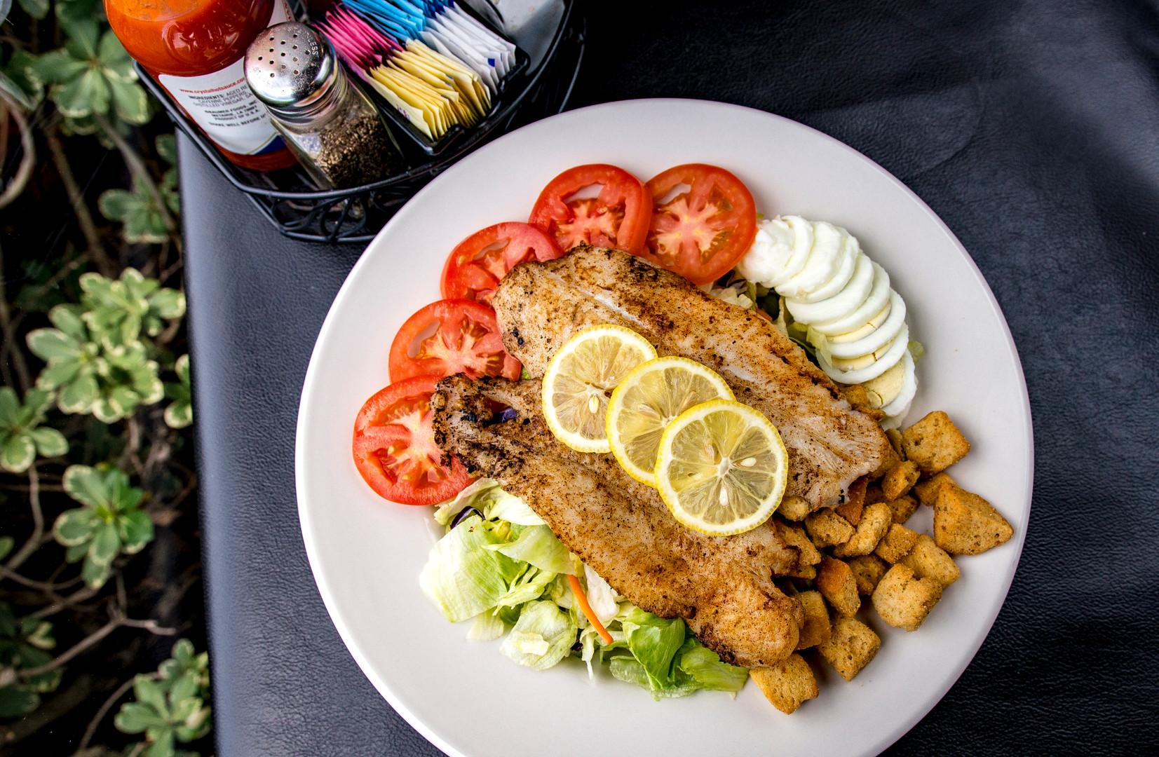 Blackened Fish Salad
