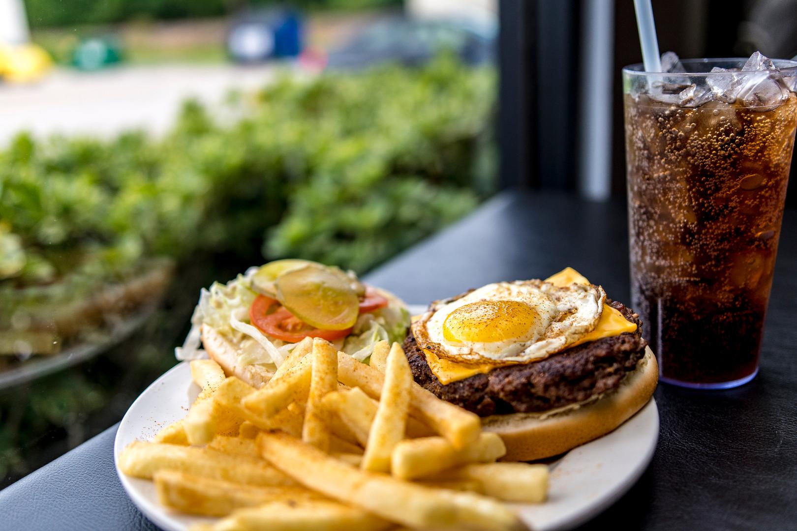 Cheeseburger with Sunnyside Egg
