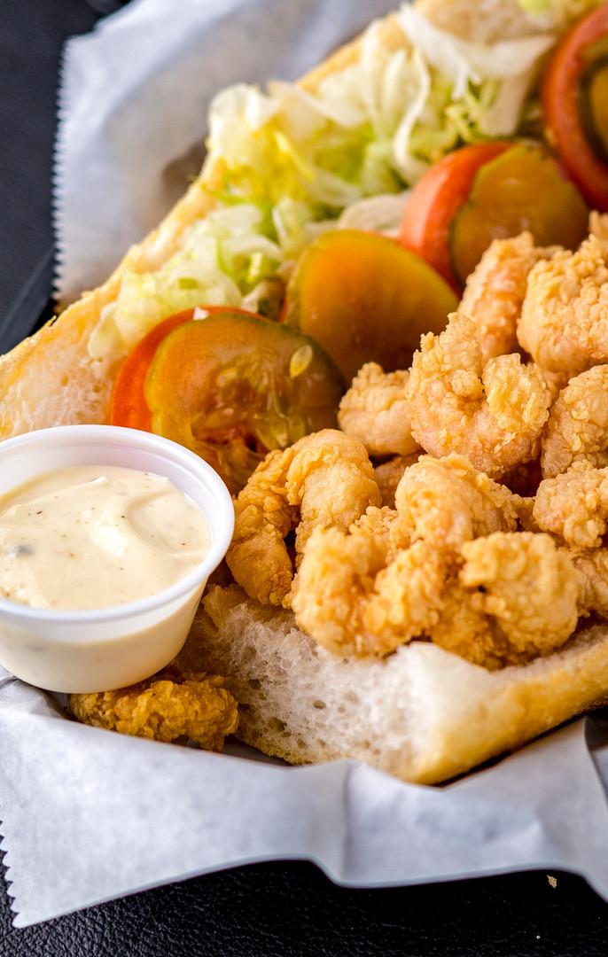 Shrimp Poboy Closeup