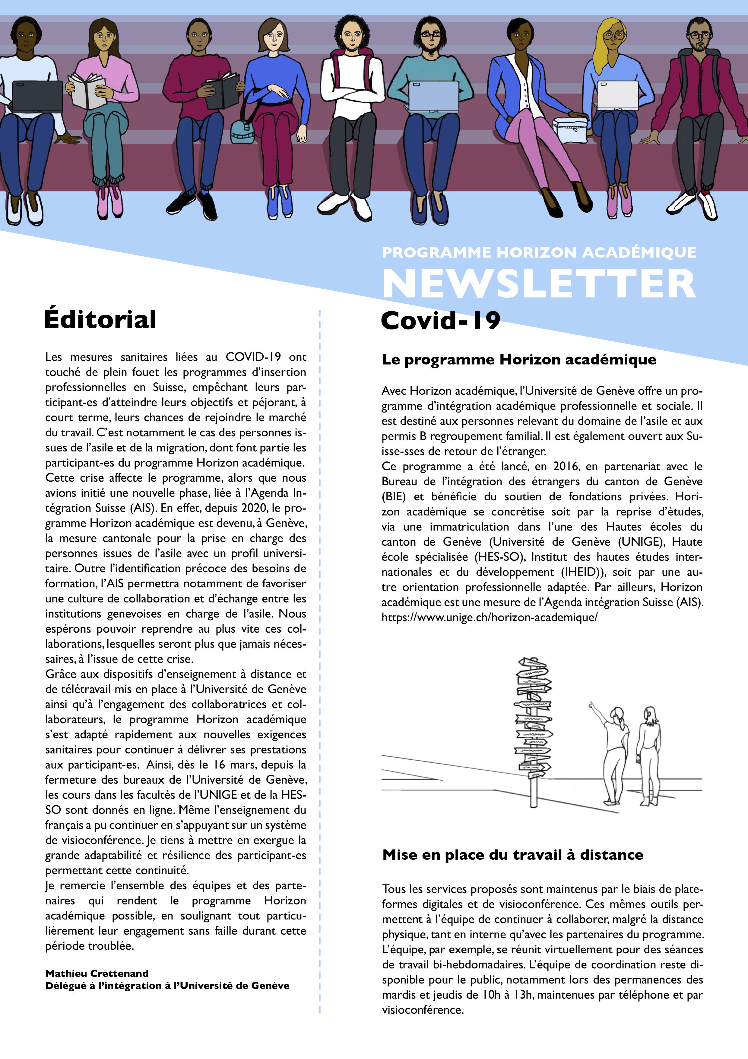 Newsletter covid19 Horizon Académique