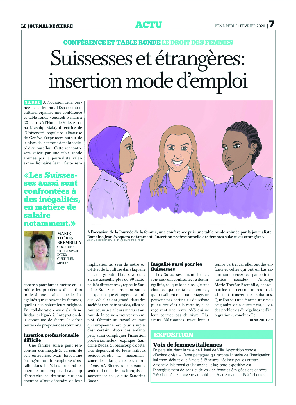 Illustration de presse sur journal