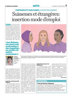 Illustration de presse sur journal