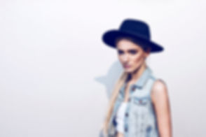 woman with hat advertisng header image