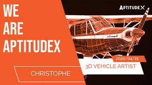 WeAreAptitudeX : Christophe, 3D Vehicle Artist, passionné par les jeux vidéo