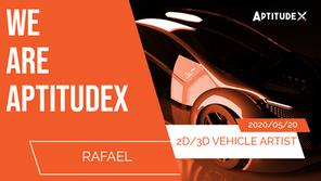 WeAreAptitudeX : Rafael, from Designer to 2D/3D Vehicle Artist