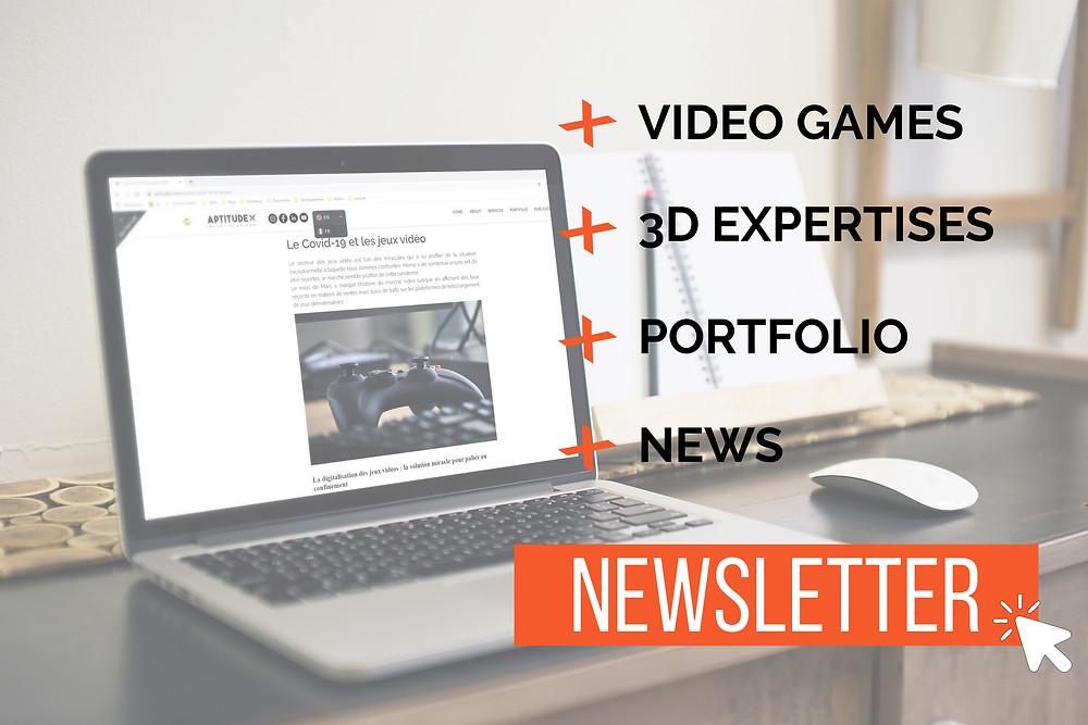Inscrivez-vous à notre newsletter pour recevoir nos dernières actualités, créations personnelles et articles sur le monde de la 3D et des jeux vidéo