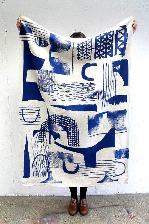Blue-cloth+print