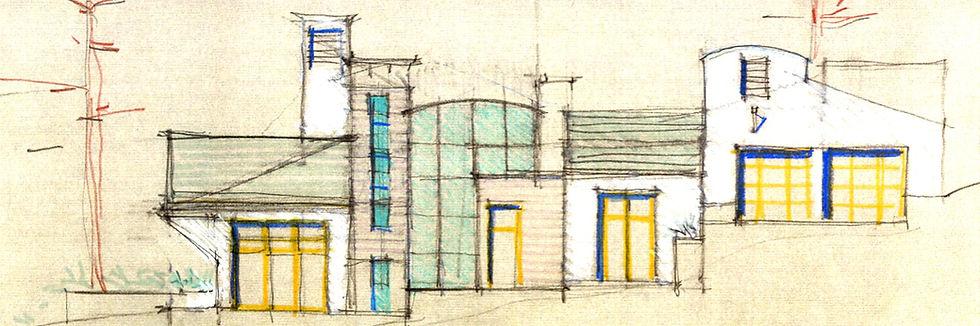 Riskin Custom Home Elevation Sketch
