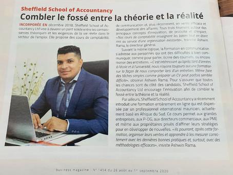 Featured in Business Magazine, Mauritius