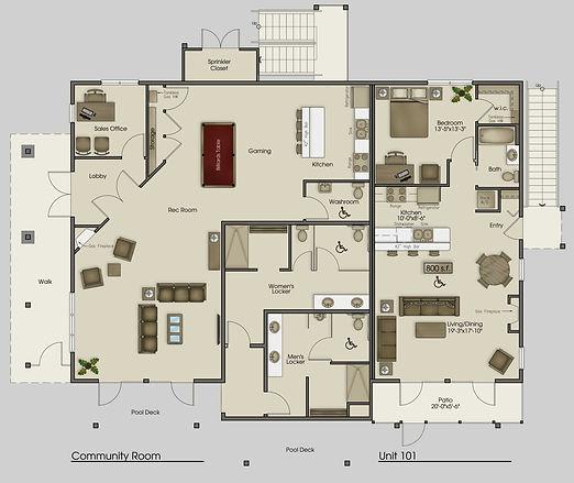 Unit 101 Floor Plan