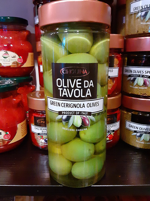 Green Cerignola Olives 11.4 oz