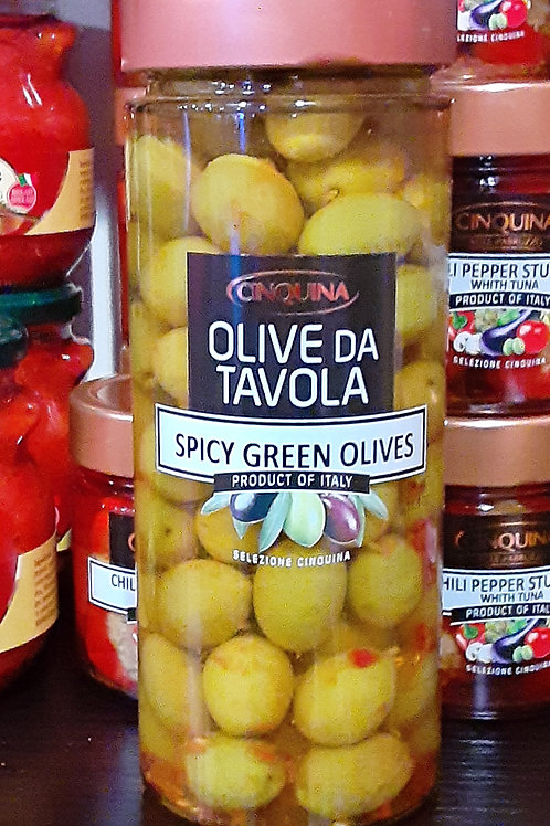 Spicy Green Olives    11.3 oz