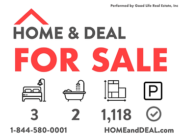 HOME & DEAL - For Sale - Actual Size - 1