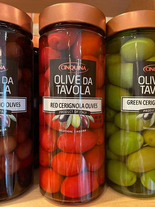 Red Cerignola Olives 11.4