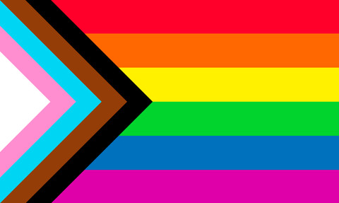 Progress Pride Flag by Daniel Quasar (quasar.digital LLC)