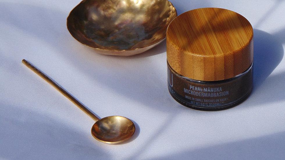 Pearl Mānuka Microdermabrasion + Brass Bowl & Spoon