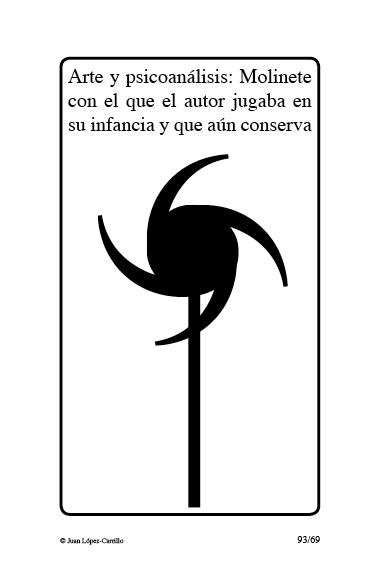 """""""Arte y psicoanálisis: molinete con"""