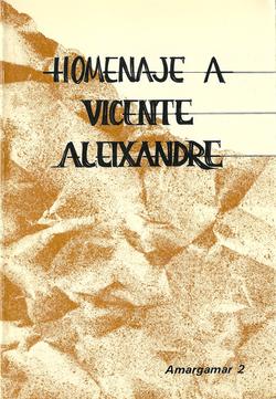 Homenaje a Vicente Aleixandre