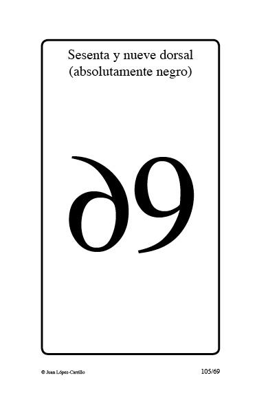 """""""Sesenta y nueve dorsal (absolutamen"""