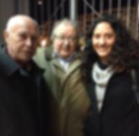«Con Antonio Carvajal e Isabel Marzal», fotografía de la sección FOTOS de la página web de Juan López-Carrillo