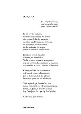 Poema «Don Juan» del poeta Juan López-Carrillo