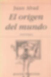 «El origen del mundo», libro colectivo donde participa el poeta Juan López-Carrillo