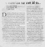 Artículo de A. Sáenz de Zaitegui sobre «Los muertos no van al cine»