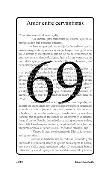 """Amor entre cervantistas"""