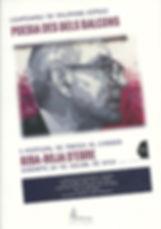 «Poesia des dels balcons», libro colectivo donde participa el poeta Juan López-Carrillo