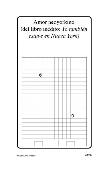 """""""Amor neoyorkino (del libro inédito:"""