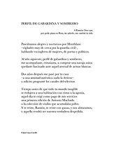 Poema «Perfil de gabardina y sombrero» del poeta Juan López-Carrillo