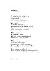 Poema «Poética» del poeta Juan López-Carrillo