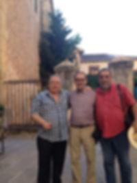 «En Segovia, con Ignacio Sanz y Ramón García Mateos (o el mejor recital de poesía de mi vida)», fotografía de la sección FOTOS de la página web de Juan López-Carrillo