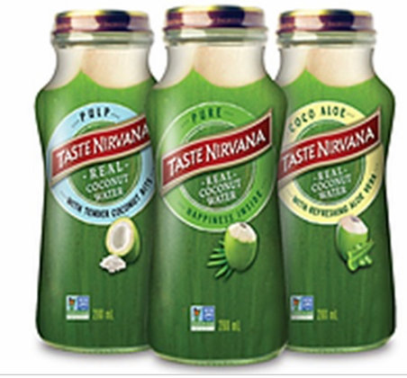 NIRVANA REAL COCONUT WATER WITH PULP 9oz