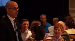 Joe Serio speaking to audience