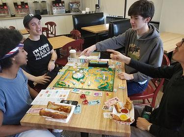 board games, games, food, tea