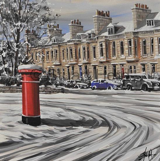 Winter Post, Westbourne Gardens - Glasgow
